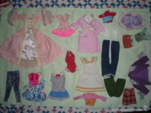 lote de vestidos barbie antiguos sin catalogar algunos