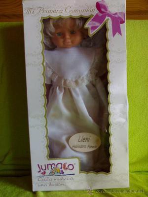 muñeca de comunion marca jumaco
