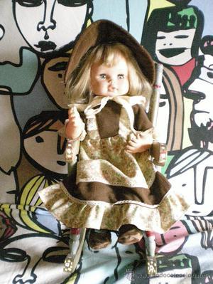 muñeca mama menci de jesmar completa de origen con mecedora