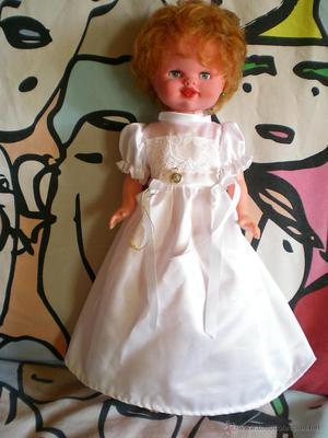 preciosa muñeca 40 cm pelirroja pelo afro tobillo gordito