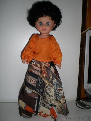 preciosa muñeca pepa pelo negr afro sin raya modelo