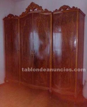 Dormitorio matrimonio antiguo madera completo