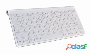 L-Link Teclado Bluetooth Ultra slim Blanco