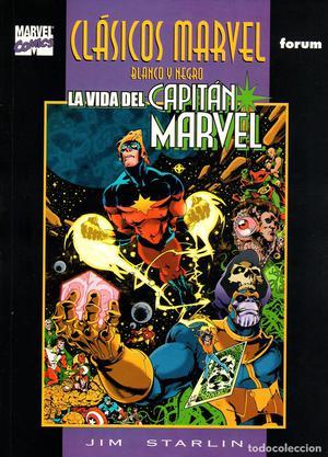 Clasicos Marvel en Blanco y Negro.03.Capitan Marvel:La Vida