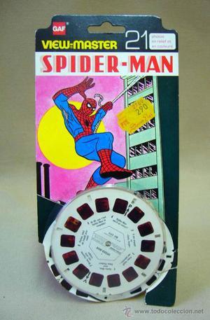 3 DISCOS VIEW MASTER, GAF, SPIDER MAN,