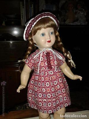 Antigua muñeca alemana 42 cmtrs. celuloide y composición.