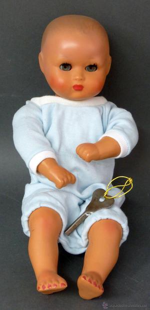 Bebé muñeco italiano terracota y composición a cuerda