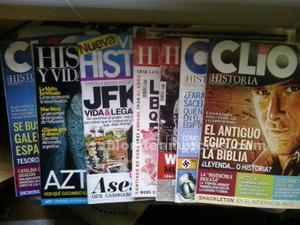 Lote 7 revistas de historia