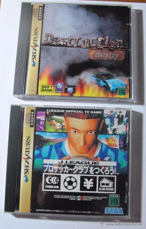 Lote de 2 juegos para sega saturn: destruction derby y
