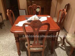 Mesa y seis sillas para salon comedor