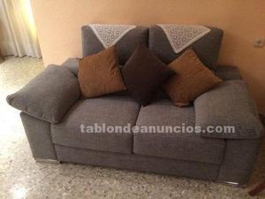 Sofa gris dos plazas electronico