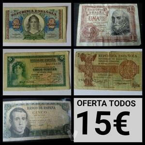 billetes antiguos de peseta