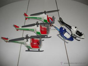 lote helicopteros de playmobil helicoptero policia polizei