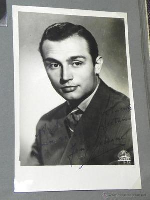 AUTOGRAFO MANUSCRITO DE TONY LEBLANC, 100 % ORIGINAL,