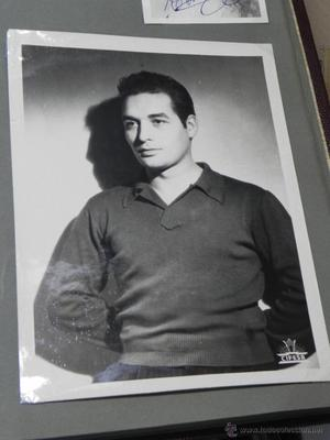 AUTOGRAFO ORIGINAL DE JORGE MISTRAL CON DEDICATORIA, DE SU
