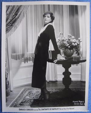 El cantante de Nápoles. Mona Maris. Foto original USA