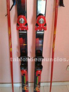 Esquís con fijaciones y botas