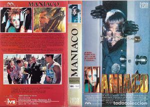 ** HR275 - CARATULA DE PELICULA VHS - MANIATICO