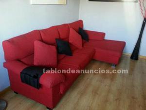 Sofa chaise longue rojo