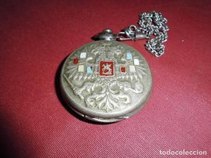 magnifico reloj antiguo de bolsillo ruso carga manual,marca