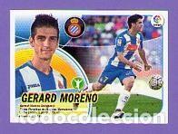 15 GERARD MORENO RCD ESPANYOL CROMO ERROR LOGO SIN