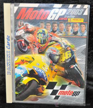Album de cromos de Moto GP , con muchos cromos en el