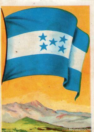 BANDERAS Y UNIFORMES - CROMO Nº 55 - HONDURAS - CHOCOLATES