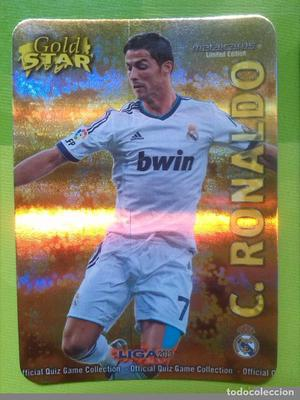 Cromo de C. Ronaldo, R. Madrid, Mundicromo , Gold Star
