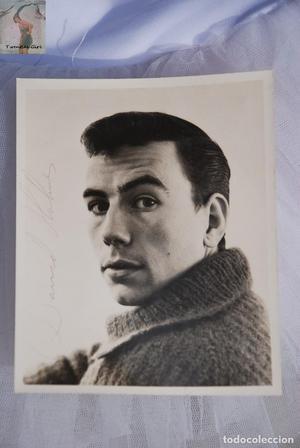 Fotografía vintage con autográfo del bailarín David