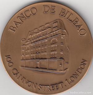 MEDALLA: BANCO DE BILBAO. 100 CANNON STREET, LONDON