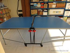 Mesa de ping pong con paletas y pelotas posot class for Mesa de ping pong usada
