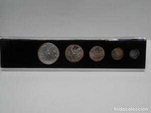 MEXICO cinco monedas: 1 onza, 1/2 onza, 1/4 de onza, 1/10 de