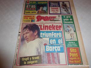 SPORT()GARY LINEKER(BARÇA)ASI GANAMOS EL MUNDIAL DE