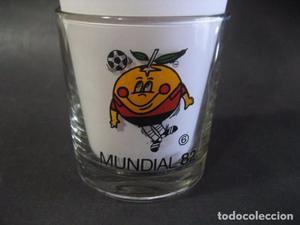 VASO CRISTAL NARANJITO Nº6 MUNDIAL FUTBOL ESPAÑA 82.
