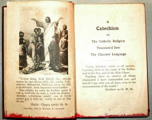 A CATECHISM OF CATHOLIC RELIGION TRASLATED INTO THE CHOTAW