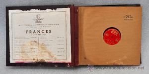 ALBUM CON 10 DISCOS DE PIZARRA EN FRANCES. POLIGLOPHONE CCC