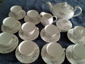 Juego té porcelana inglesa