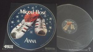 Miguel Bosé - Anna Maxi Single 12 pulgadas promocional en