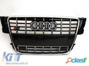 Parrilla Frontal Audi A5 Look S5 2007-Edicion Negro con PDC