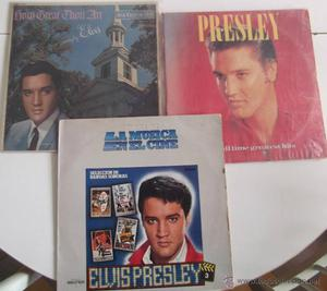 lote 3 ELVIS PRESLEY,THE ALL TIME GREATEST HITS,HOW GREAT
