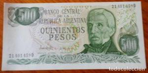 ARGENTINA BILLETE DE 500 PESOS SIN CIRCULAR