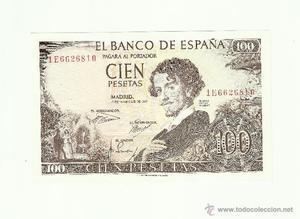 BILLETE 100 PESETAS, , BECQUER, SC