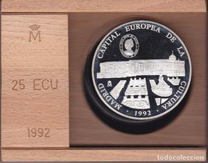 CINCUENTIN DE PLATA 25 ECU  MADRID CAPITAL EUROPEA DE
