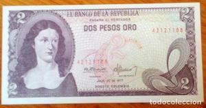 Colombia 2 pesos oro de  SIN CIRCULAR