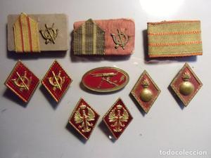 Conjuntos de insignias,rombos,galones,MILITARIA,varios