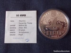 HOLANDA -- NEDERLANDE --- 50 EURO PRUBA PLATA DE 925 MACIZA