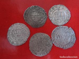 Hungria. lote de 5 monedas de un denar de vellon.  a