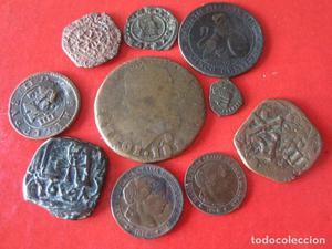 Lote de 10 monedas antiguas Españolas diferentes