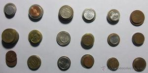 Lote de 100 monedas distintas (+25 paises - 450 gr. - ref.