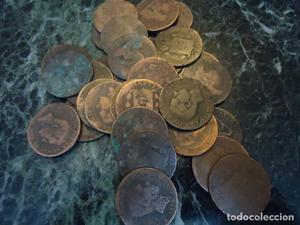 Lote de 15 monedas de Alfonso XII